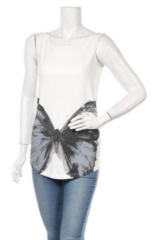 Γυναικείο αμάνικο μπλουζάκι Jones, Μέγεθος S, Χρώμα Λευκό, Βισκόζη, ελαστάνη, Τιμή 11,58€