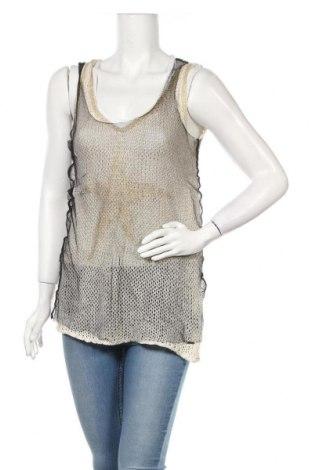 Γυναικείο αμάνικο μπλουζάκι Jones, Μέγεθος L, Χρώμα  Μπέζ, 70% πολυακρυλικό, 30% λινό, Τιμή 11,58€