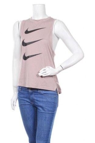 Дамски потник Nike, Размер S, Цвят Бежов, 85% полиестер, 15% памук, Цена 29,40лв.