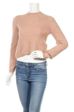 Дамски пуловер Banana Republic, Размер XS, Цвят Бежов, 58% вълна, 40% полиамид, 2% еластан, Цена 33,00лв.