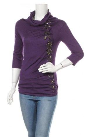 Дамски пуловер Escada, Размер XXS, Цвят Лилав, 55% коприна, 45% кашмир, Цена 96,60лв.