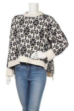 Дамски пуловер H&M L.O.G.G., Размер L, Цвят Екрю, 76% акрил, 20% полиамид, 4% вълна от алпака, Цена 27,00лв.