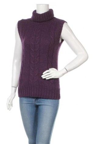 Дамски пуловер H&M L.O.G.G., Размер S, Цвят Лилав, 50% вълна, 30% полиамид, 20% ангора, Цена 21,75лв.