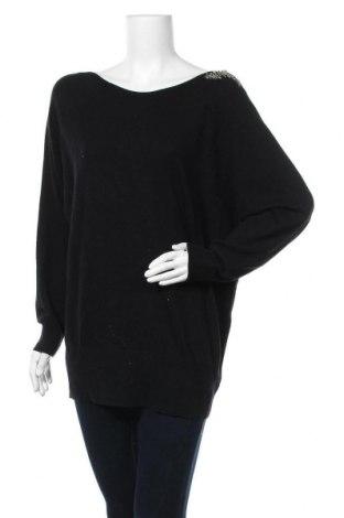 Дамски пуловер Oui, Размер L, Цвят Черен, 38% полиамид, 35% вискоза, 25% вълна, 2% кашмир, Цена 90,72лв.