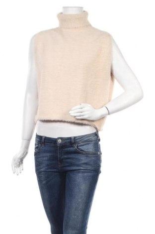 Дамски пуловер Poete, Размер M, Цвят Бежов, 86% полиестер, 14% вискоза, Цена 31,20лв.
