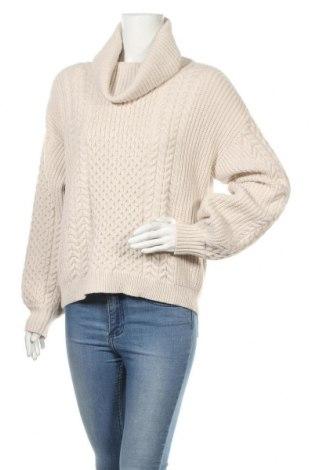 Дамски пуловер Reserved, Размер M, Цвят Бежов, 46% вискоза, 28% полиамид, 26% полиестер, Цена 24,75лв.