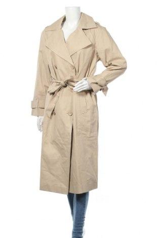Дамски шлифер Object, Размер S, Цвят Бежов, Памук, Цена 56,62лв.