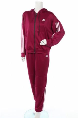 Дамски спортен комплект Adidas, Размер L, Цвят Лилав, Полиестер, Цена 126,75лв.