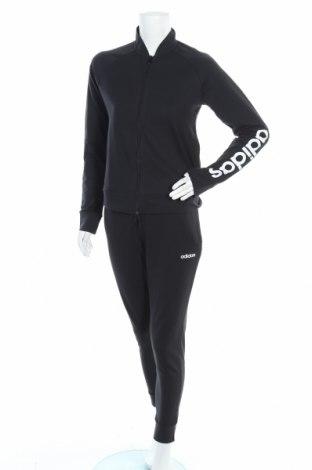 Дамски спортен комплект Adidas, Размер M, Цвят Черен, 72% памук, 28% полиестер, Цена 128,52лв.