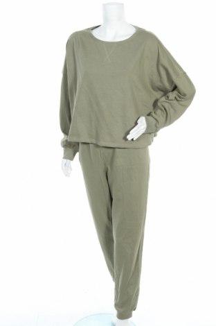 Дамски спортен комплект Anna Field, Размер XL, Цвят Зелен, 100% памук, Цена 47,40лв.