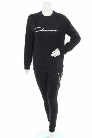 Дамски спортен комплект Closure, Размер M, Цвят Черен, Памук, Цена 61,20лв.