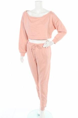 Дамски спортен комплект Missguided, Размер L, Цвят Розов, 60% памук, 40% полиестер, Цена 44,40лв.