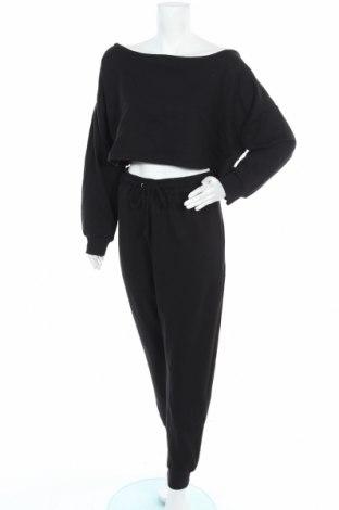 Дамски спортен комплект Missguided, Размер XXL, Цвят Черен, 60% памук, 40% полиестер, Цена 38,40лв.