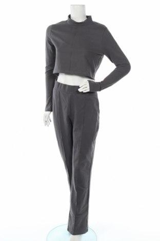 Дамски спортен комплект Nly Trend, Размер M, Цвят Сив, 97% памук, 3% еластан, Цена 45,82лв.