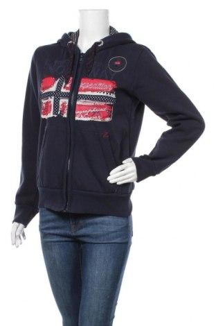 Γυναικείο φούτερ Geographical Norway, Μέγεθος L, Χρώμα Μπλέ, 65% βαμβάκι, 35% πολυεστέρας, Τιμή 26,61€