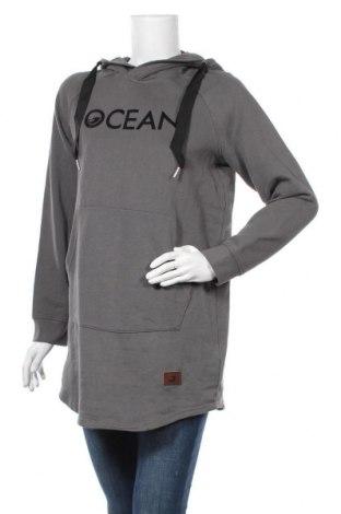 Γυναικείο φούτερ Ocean, Μέγεθος M, Χρώμα Γκρί, 60% βαμβάκι, 40% πολυεστέρας, Τιμή 19,73€
