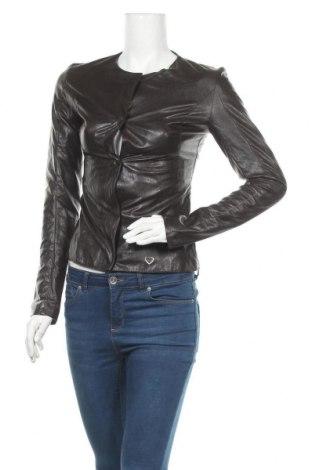 Дамско кожено сако Please, Размер S, Цвят Кафяв, Еко кожа, Цена 71,40лв.