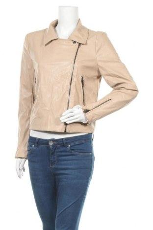 Γυναικείο δερμάτινο μπουφάν, Μέγεθος L, Χρώμα  Μπέζ, Δερματίνη, Τιμή 25,14€