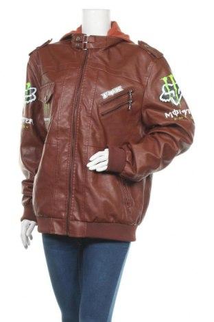 Γυναικείο δερμάτινο μπουφάν, Μέγεθος XL, Χρώμα Καφέ, Δερματίνη, Τιμή 19,87€