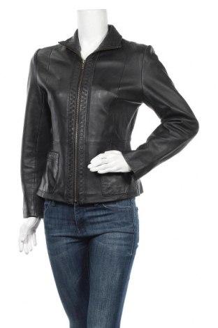 Дамско кожено яке, Размер M, Цвят Черен, Естествена кожа, Цена 81,90лв.