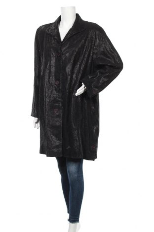Дамско кожено яке, Размер XXL, Цвят Черен, Естествена кожа, Цена 56,23лв.