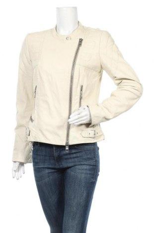 Дамско кожено яке Closed, Размер L, Цвят Бял, Естествена кожа, Цена 78,75лв.