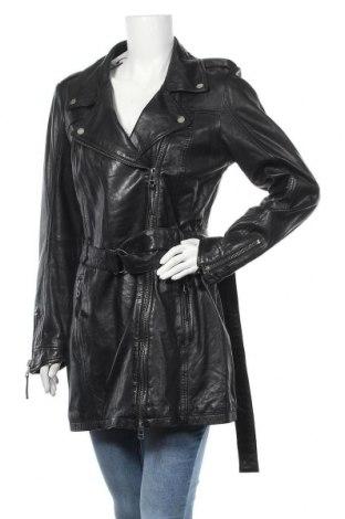Γυναικείο δερμάτινο μπουφάν Freaky Nation, Μέγεθος XL, Χρώμα Μαύρο, Γνήσιο δέρμα, Τιμή 111,22€