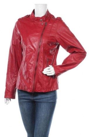 Γυναικείο δερμάτινο μπουφάν Janina, Μέγεθος L, Χρώμα Κόκκινο, Δερματίνη, Τιμή 26,63€