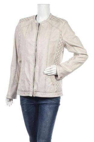 Γυναικείο δερμάτινο μπουφάν Janina, Μέγεθος L, Χρώμα  Μπέζ, Δερματίνη, Τιμή 22,21€