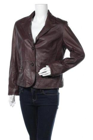 Дамско кожено яке Joy, Размер L, Цвят Кафяв, Естествена кожа, Цена 93,45лв.