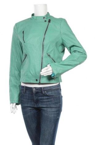 Дамско кожено яке Montgomery Different, Размер L, Цвят Зелен, Еко кожа, Цена 28,35лв.