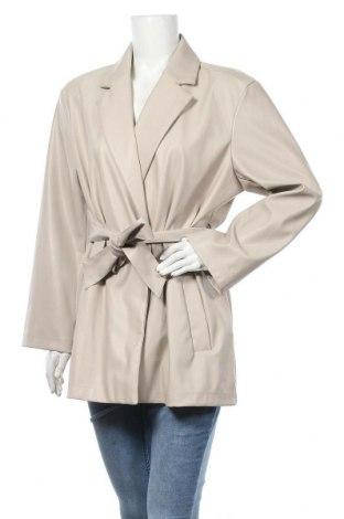 Дамско кожено яке ONLY, Размер L, Цвят Бежов, Еко кожа, Цена 40,05лв.