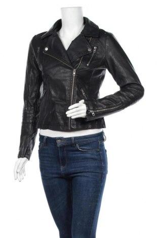 Дамско кожено яке ONLY, Размер S, Цвят Черен, Еко кожа, Цена 43,05лв.