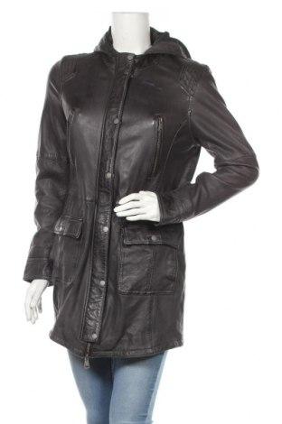 Дамско кожено яке Oakwood, Размер L, Цвят Черен, Естествена кожа, Цена 105,84лв.