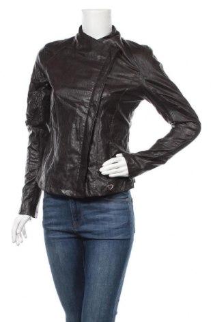 Дамско кожено яке Please, Размер M, Цвят Кафяв, Еко кожа, Цена 87,60лв.
