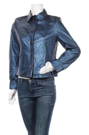 Дамско кожено яке Prestige, Размер M, Цвят Син, Естествена кожа, Цена 65,52лв.