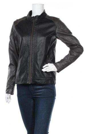 Γυναικείο δερμάτινο μπουφάν S.Oliver, Μέγεθος L, Χρώμα Μαύρο, Δερματίνη, Τιμή 22,21€