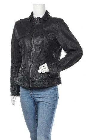 Дамско кожено яке Street One, Размер L, Цвят Черен, Естествена кожа, Цена 46,31лв.