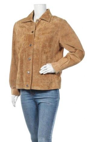 Γυναικείο δερμάτινο μπουφάν TCM, Μέγεθος XL, Χρώμα  Μπέζ, Φυσικό σουέτ, Τιμή 22,86€