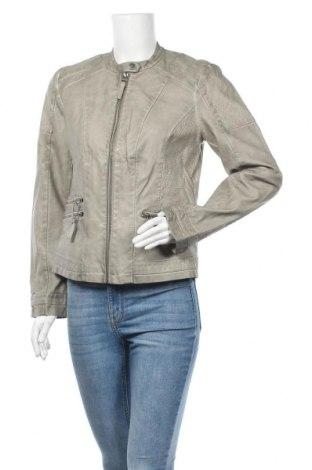 Дамско кожено яке Woman By Tchibo, Размер M, Цвят Сив, Еко кожа, Цена 28,56лв.