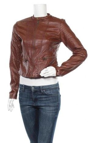 Дамско кожено яке Xhilaration, Размер S, Цвят Кафяв, Еко кожа, Цена 23,21лв.