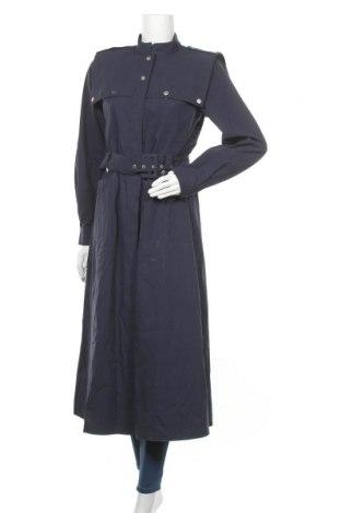 Γυναικείο παλτό Gestuz, Μέγεθος S, Χρώμα Μπλέ, Βαμβάκι, Τιμή 26,20€