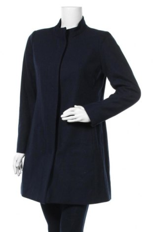 Дамско палто In Wear, Размер S, Цвят Син, 52% вълна, 34% полиестер, 9% акрил, 4% полиамид, 1% вискоза, Цена 169,07лв.