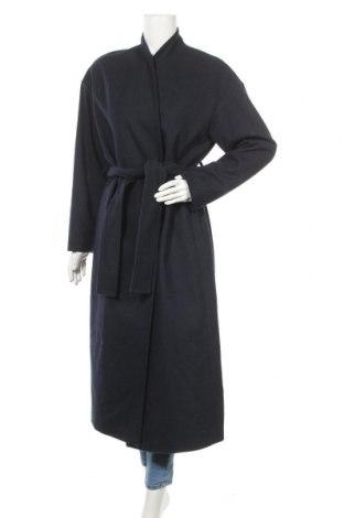 Дамско палто In Wear, Размер M, Цвят Син, 52% вълна, 34% полиестер, 9% акрил, 4% полиамид, 1% вискоза, Цена 174,37лв.