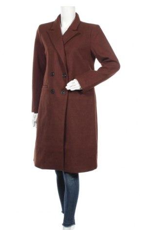 Дамско палто Object, Размер M, Цвят Кафяв, 70% полиестер, 30% вълна, Цена 68,02лв.