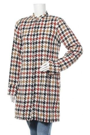 Дамско палто Trendyol, Размер L, Цвят Многоцветен, 40% памук, 35% вълна, 25% полиестер, Цена 48,95лв.