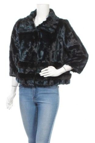 Дамско палто Trussardi Jeans, Размер L, Цвят Син, 78% акрил, 22% полиестер, Цена 100,64лв.
