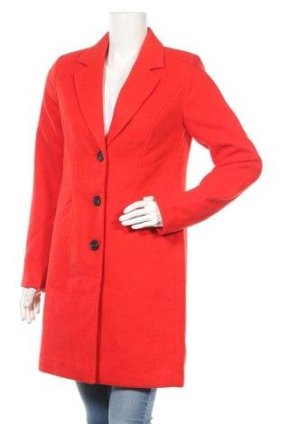 Дамско палто Vero Moda, Размер S, Цвят Червен, 89% полиестер, 10% вискоза, 1% еластан, Цена 47,40лв.