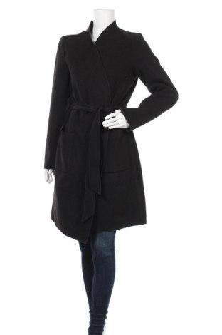 Дамско палто Vila, Размер M, Цвят Черен, 95% полиестер, 3% вискоза, 2% еластан, Цена 162,00лв.