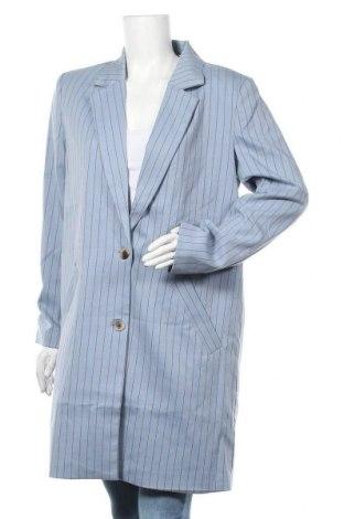 Дамско палто Vila, Размер L, Цвят Син, 82% полиестер, 12% вискоза, Цена 40,48лв.
